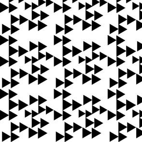 Black Geometric Triangle Arrows