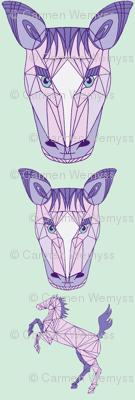 horse purple