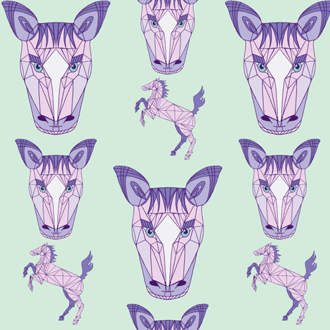 horse purple fabric by poppybasildesigns on Spoonflower - custom fabric