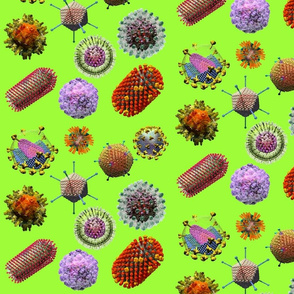 VIRUSES on green