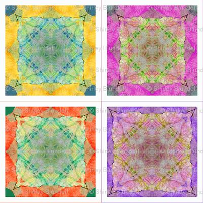 4 Tissue Tie-Dye Coasters