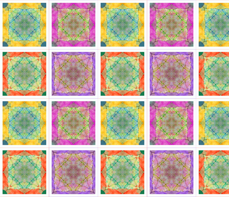 4 Tissue Tie-Dye Coasters fabric by koalalady on Spoonflower - custom fabric