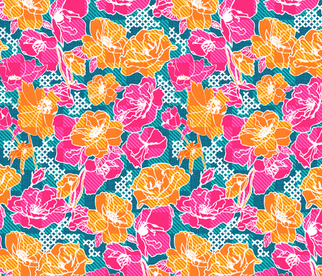 A summer plaid fabric by demigoutte on Spoonflower - custom fabric