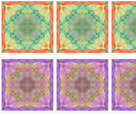 4 Tissue Tie-Dye Squares fabric by koalalady on Spoonflower - custom fabric