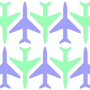 Blue and Green Planes