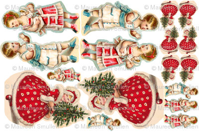 Girls dolls pillows ornaments