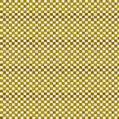 Checkerboard in yellow and brown.