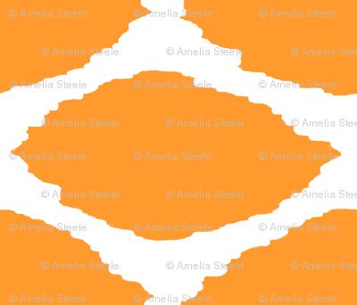 Tangerine Oval Ikat