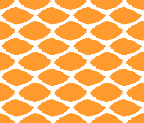 Tangerine Oval Ikat fabric by willowlanetextiles on Spoonflower - custom fabric