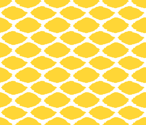 Lemon Oval Ikat fabric by willowlanetextiles on Spoonflower - custom fabric