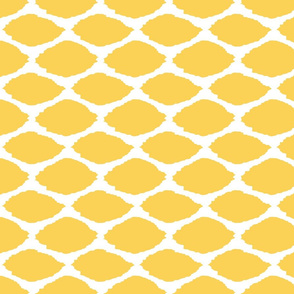 Lemon Oval Ikat