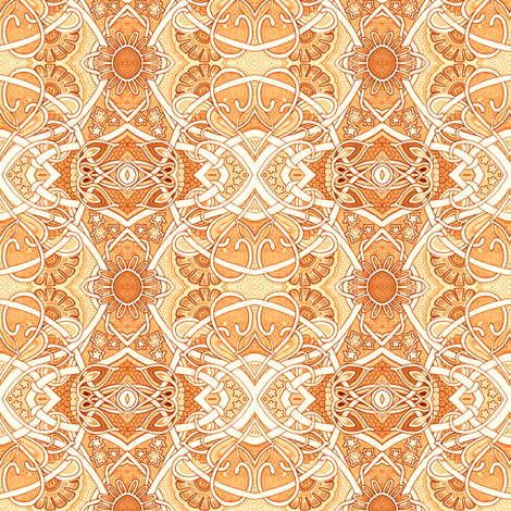 Just Peachy fabric by edsel2084 on Spoonflower - custom fabric