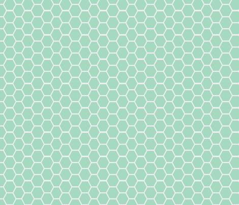 honeycomb milk glass fabric by ninaribena on Spoonflower - custom fabric