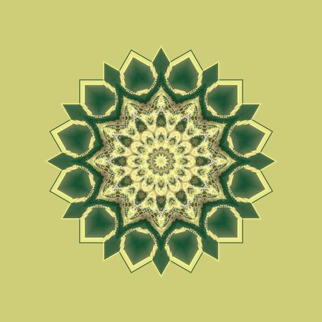 Kaleidescope 0310 k1 r1 turquoise k1 pale yellow fabric by wyspyr on Spoonflower - custom fabric