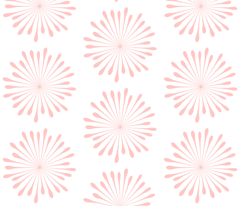 Bursting Blossom Pink fabric by drapestudio on Spoonflower - custom fabric