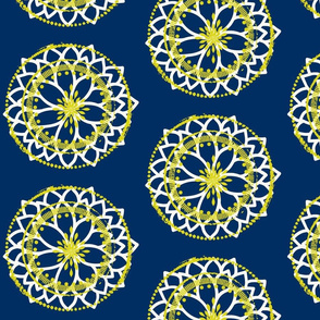 Petal wheel in Navy