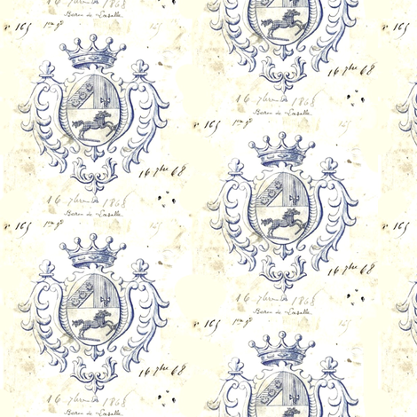 Parchment Crests fabric by ragan on Spoonflower - custom fabric