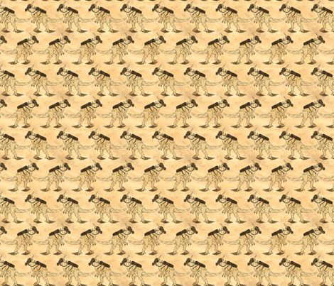 DinoMask - Old Paper fabric by will_la_puerta on Spoonflower - custom fabric