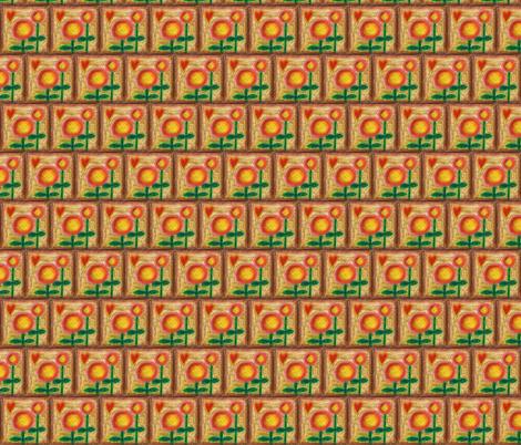Sunflowers and Love fabric by shadorma on Spoonflower - custom fabric
