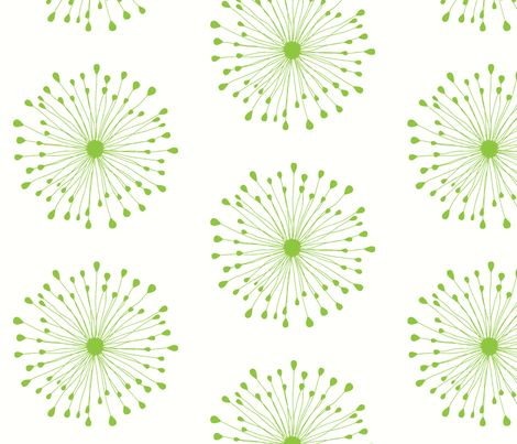 Bursting Blossom Green fabric by drapestudio on Spoonflower - custom fabric
