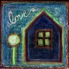 Love House Oil Pastels