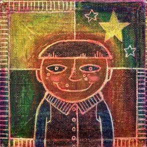 Dreamy Star Boy OilPastels