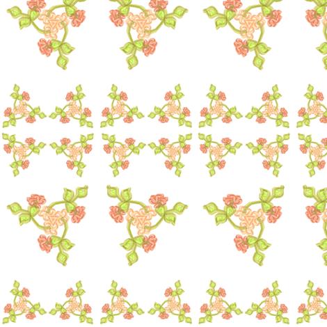 Triskellion Fleurs fabric by ravynscache on Spoonflower - custom fabric
