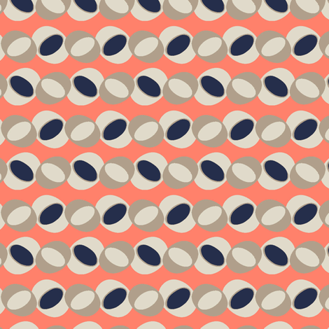 Coral Ovals fabric by gimlet on Spoonflower - custom fabric