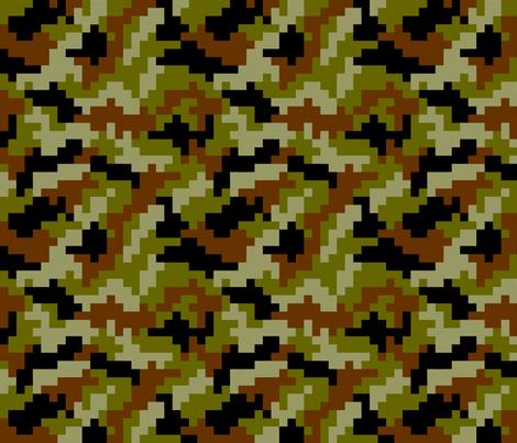 Gamer Camo fabric by karapeters on Spoonflower - custom fabric