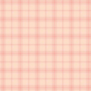 pale coral hiking plaid, small