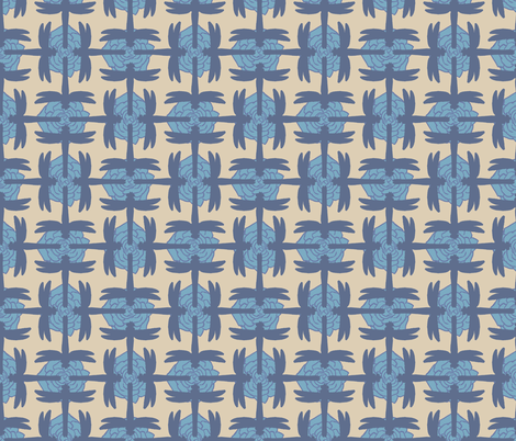 Dragonfly Sayagata Pale Blue fabric by terranacliff on Spoonflower - custom fabric