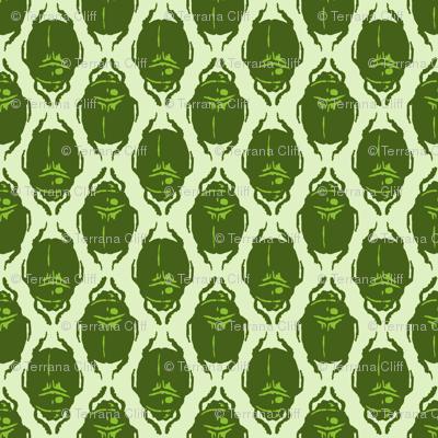 Scarab Allover Acid Green