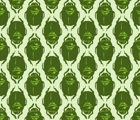 Scarab Allover Acid Green fabric by terranacliff on Spoonflower - custom fabric