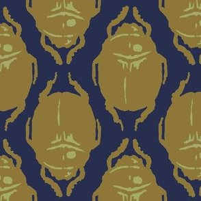 Scarab Allover Gold And Blue