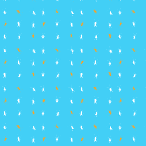 Summer Crickets fabric by lizcoven on Spoonflower - custom fabric