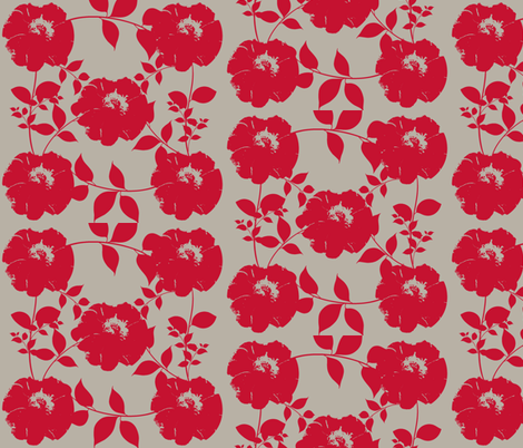 Floral pattern with leaves fabric by katiemadeit on Spoonflower - custom fabric