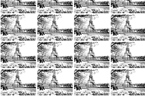 Black and White Paris Watercolor fabric by theartwerks on Spoonflower - custom fabric