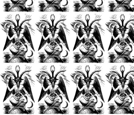 "8"" baphomet fabric by dawn_hocknell on Spoonflower - custom fabric"