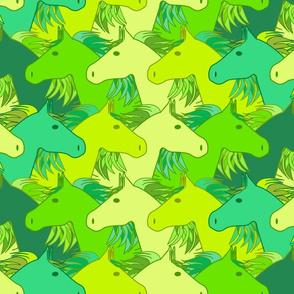 Running horses lime