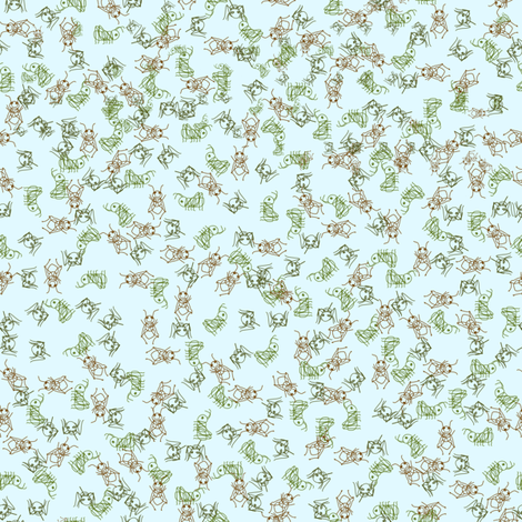 cricketsketch fabric by caperberry on Spoonflower - custom fabric