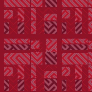Red Techie Patchwork © Gingezel™ 2014