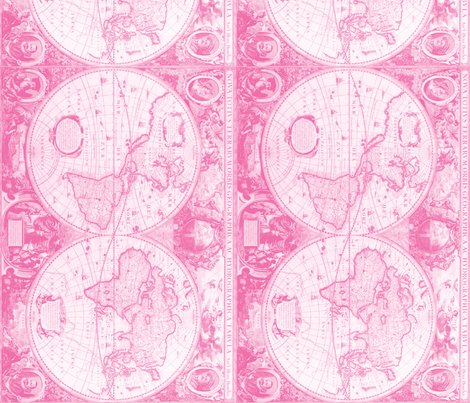 Pink world map fabric aftermyart spoonflower pink world map fabric wallpaper gift wrap rfabricangleshoppreview gumiabroncs Image collections