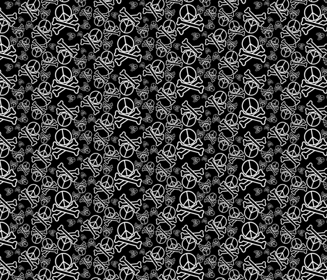Homicidal Pacifist fabric by will_la_puerta on Spoonflower - custom fabric
