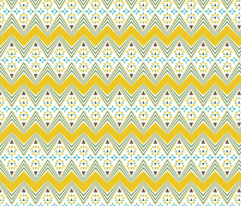 Navajo Pattern - Eternal prairies fabric by seabluestudio on Spoonflower - custom fabric