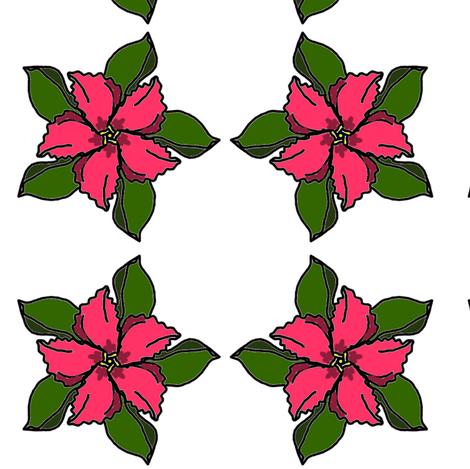 Hibiscus fabric by ravynscache on Spoonflower - custom fabric