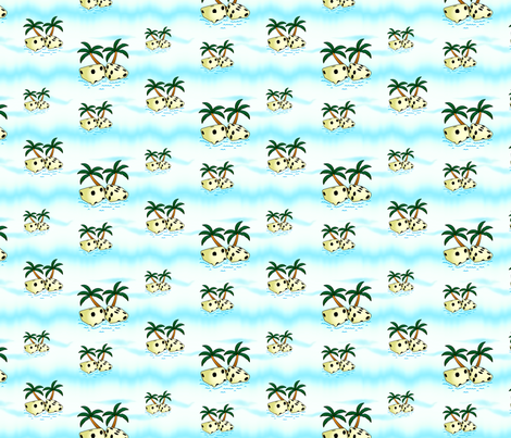Tropical Pair O Dice fabric by will_la_puerta on Spoonflower - custom fabric