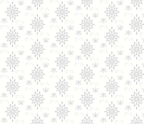 Vintage Charm LARGE 7 -  in Grey fabric by drapestudio on Spoonflower - custom fabric
