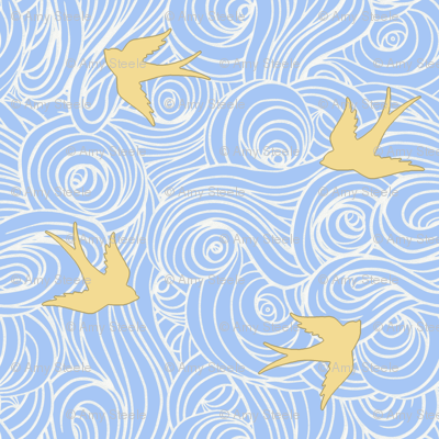 Take Flight, in Dreamy Blue and Butter