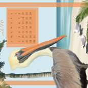 October 2016 Pelican Towel Calendar