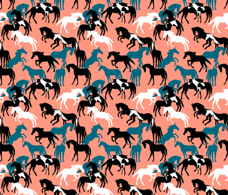 Painted Ponies fabric by eclectic_house on Spoonflower - custom fabric